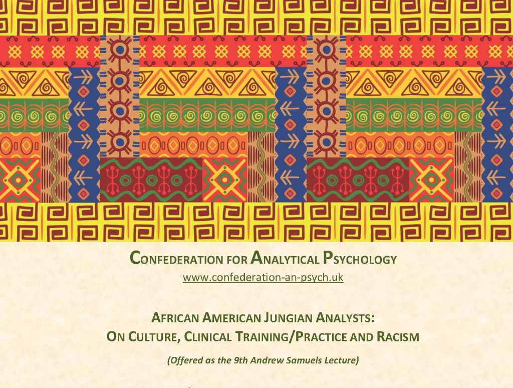 Confederation for Analytical Psychology lecture, lecture by African American Jungian Analysts, October 2018